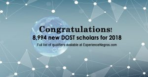 2018 DOST scholarship exam results out: 8,994 new S&T scholars