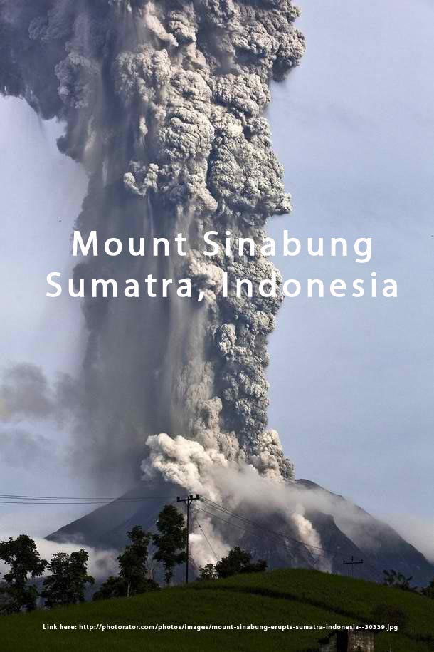 2013 eruption of Mount Sinabung in Sumatra, Indonesia being shared in Facebook as Mount Kanlaon
