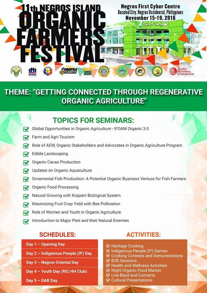 11th organic festival