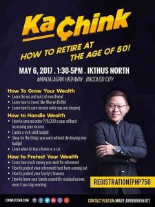 Win Free Tickets to Ka-Chink Conference in Bacolod and Learn How to Retire at 50
